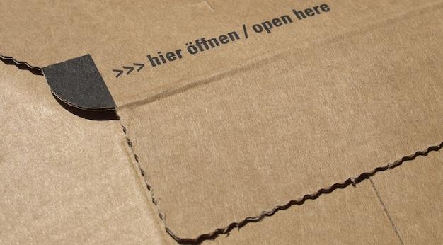 우편 배송을 위한 작은 패킷 또는 소포