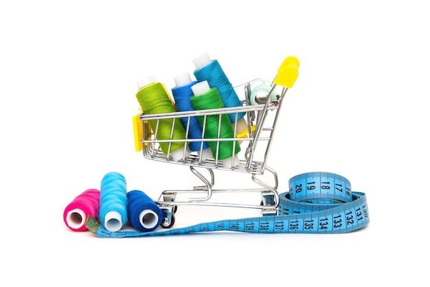 ミシン糸の小さなショッピングカート