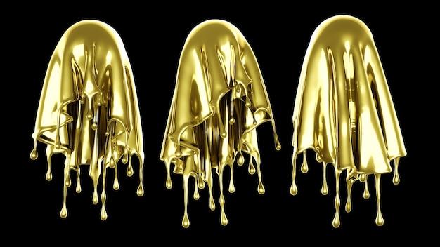 濃い金色の液体のスプラッシュ