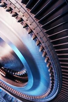 航空および発電用のブレードを備えたタービンの構造要素。テクノロジーの概念