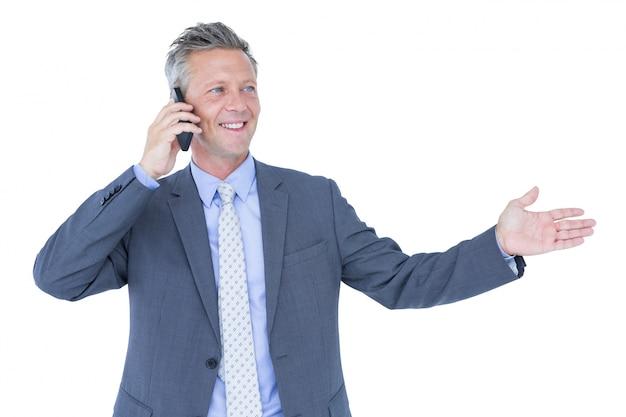 電話で成功したビジネスマン