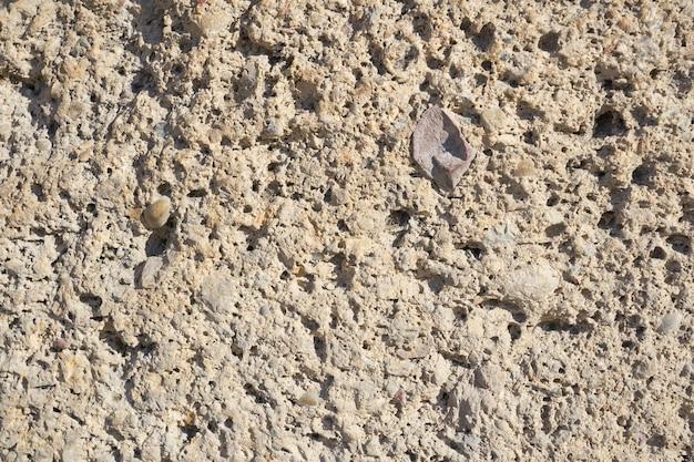 石の壁のテクスチャをクローズアップ