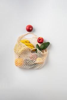 Модная текстильная сумка с фруктами, многоразовый материал для натуральных продуктов.