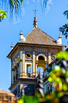 スペイン、セビリアの典型的なスペインの別荘