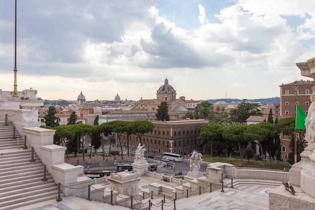 이탈리아 로마의 베네치아 광장의 전망