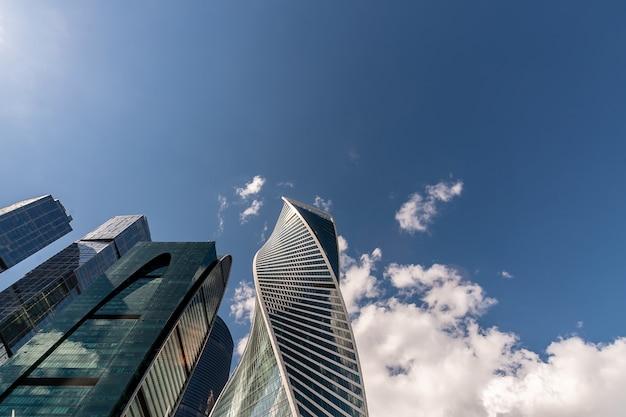 Вид на московский международный деловой центр в москве, россия.