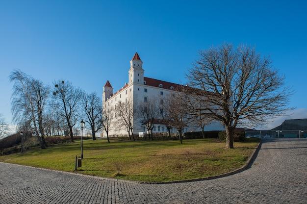 슬로바키아의 수도 브라티슬라바 거리의 전망