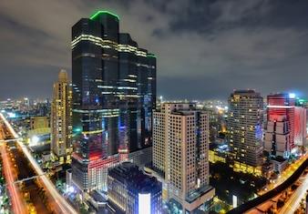 A view over the big asian city of Bangkok , Thailand