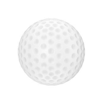 흰색 배경 3d 렌더링에 흰색 골프 공