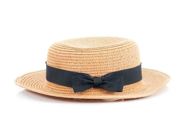 흰색 배경에 여자 모자