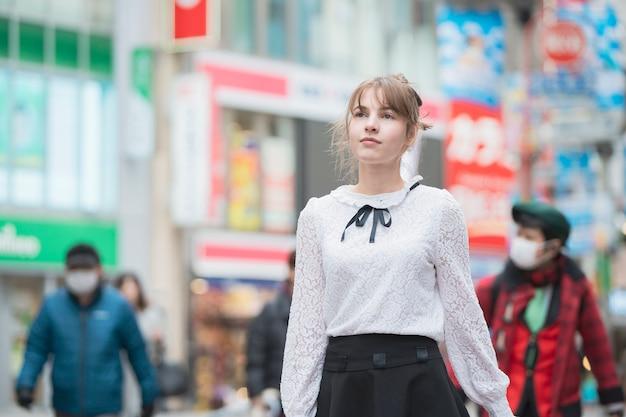 Осмотр достопримечательностей в сибуя (токио / япония)