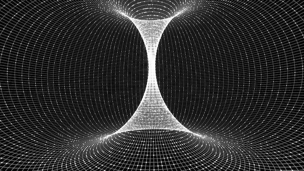 웜홀은 지름길이 아니라 우주를 이동하는 간접적 인 방법입니다. 프리미엄 사진