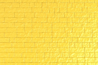 A yellow brick wall.