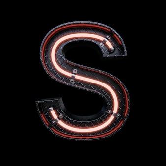 赤いネオンのネオンライト文字a。