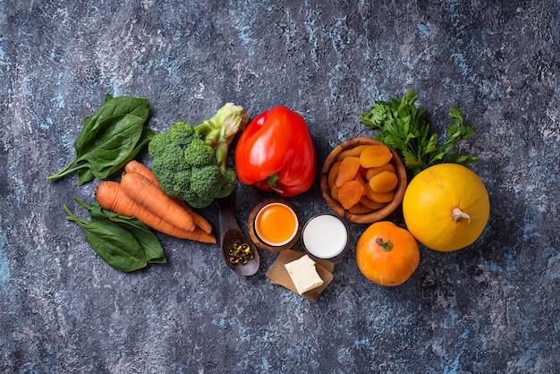 ビタミンaが豊富な健康的な製品