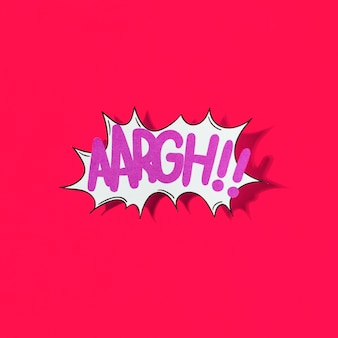Aaargh!! word comic book effect on red background