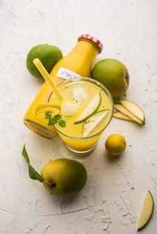 Аам панна или панха, или соленый и сладкий сок зеленого манго