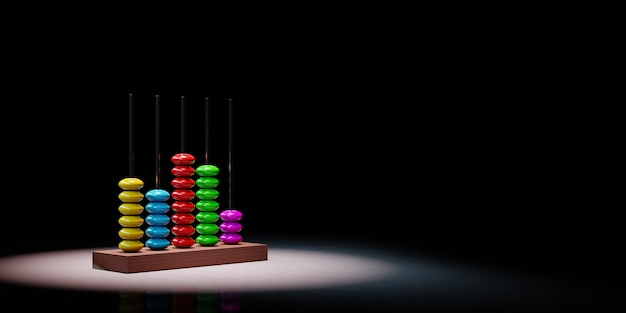 Abacus in the spotlight isolated