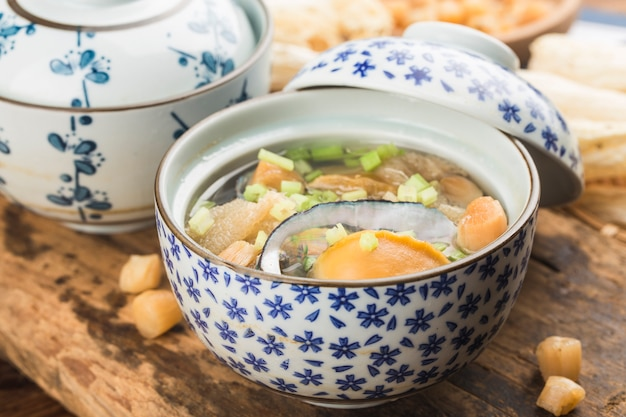 アワビのスープ