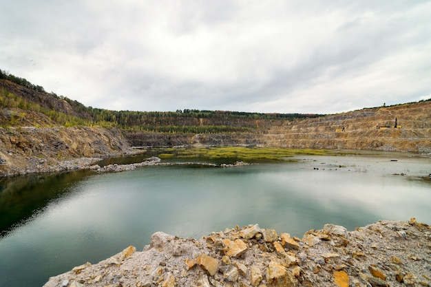 Abandoned or flooded pit mining