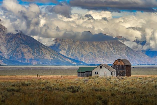Abandoned hut of mormon row historic, grand teton national park.