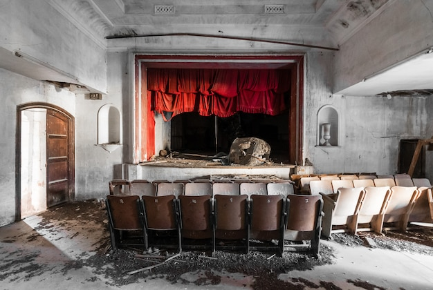 Abandoned and lonely theater