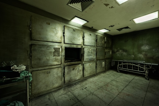 Abandoned morgue in psychiatric hospital