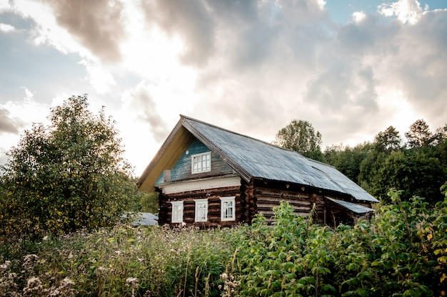 Abandoned old house in village