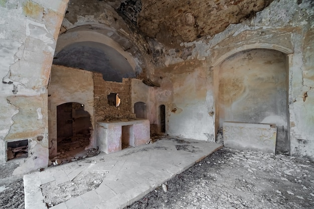Abandoned and ruined church