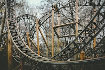 Abandoned theme park roller coaster ride