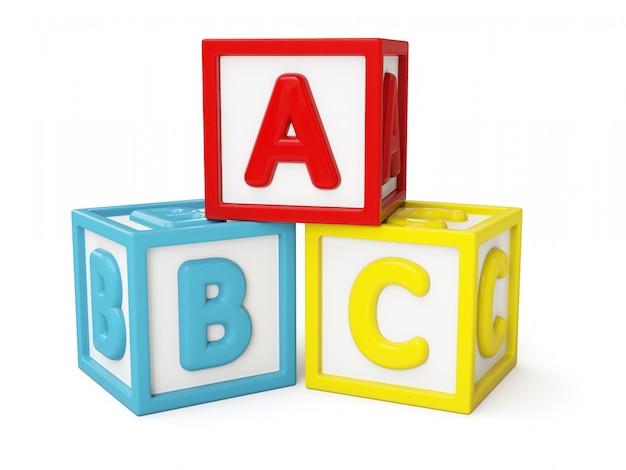 Abc строительные блоки изолированные