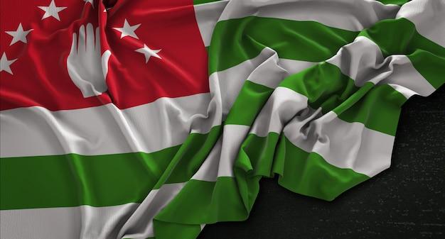 暗い背景にレンダリングされたアブハジアの旗3dレンダリング