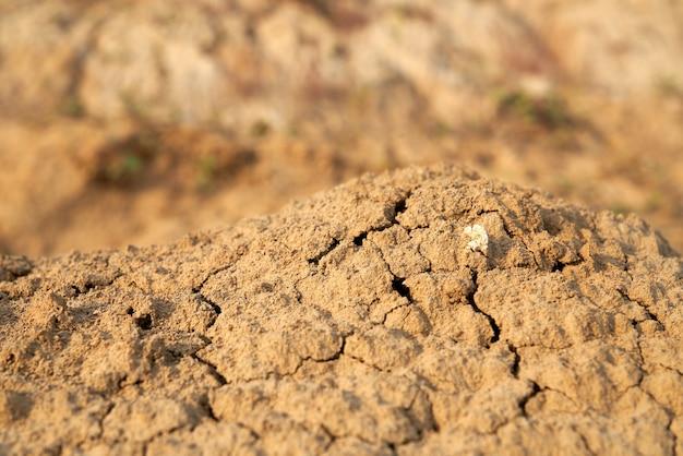 砂漠の茶色のもろい砂の山のビューの上。