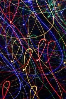 Абстрактное изображение световой живописи с длинной выдержкой