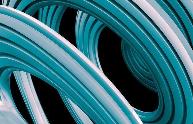 Абстрактное искусство 3d кисти фон мазка. красочные геометрические волнистые линии формы композиции обои. полосатый рисунок.