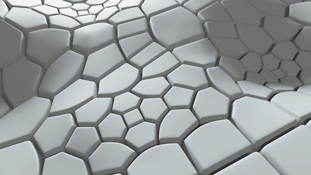 돌출된 다각형 추상 3d 배경