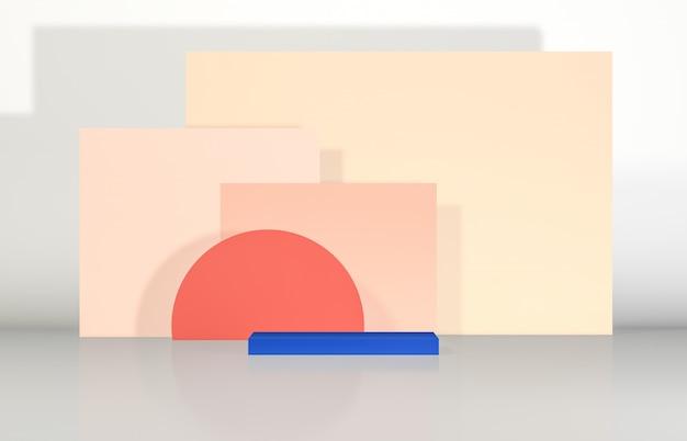 Абстрактный фон состава подиума 3d с геометрической формой для дисплея продукта.