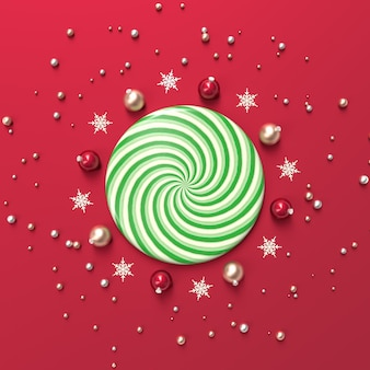 Abstract 3d composition with geometric shape for product display. winter christmas background.