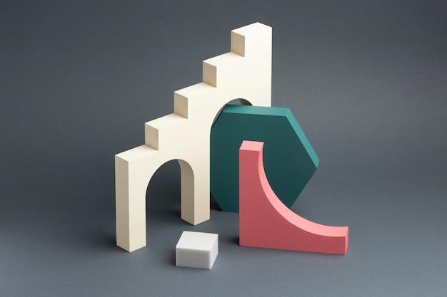 Ассортимент абстрактных элементов дизайна 3d