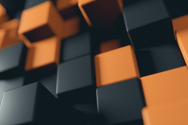 이중 톤 큐브의 추상 3d 일러스트 배경