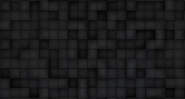 Абстрактные 3d иллюстрации. черные блоки на черном фоне.