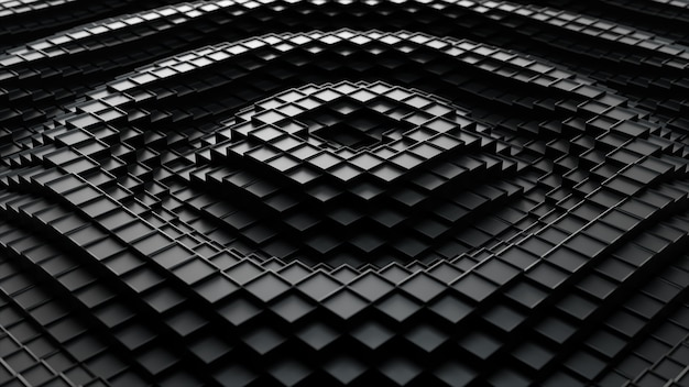 Abstract 3d illustration of cubes moving up and down