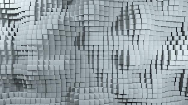 회색 큐브의 움직임의 추상 3d 일러스트
