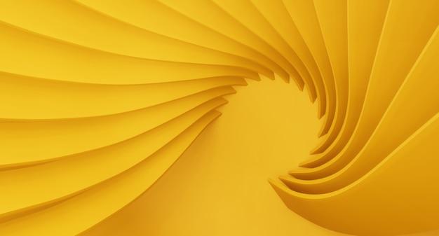 Абстрактные 3d визуализации архитектура фона. современные геометрические обои. футуристический технологический дизайн