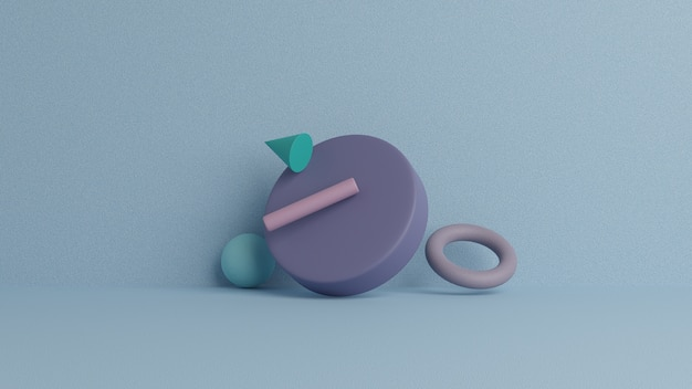 抽象的な3 dレンダリング、モダンな幾何学的