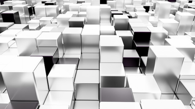 Abstract 3d rendering .cubesseamless background. Premium Photo