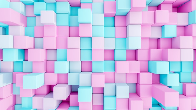 Abstract 3d rendering   cubesseamless background