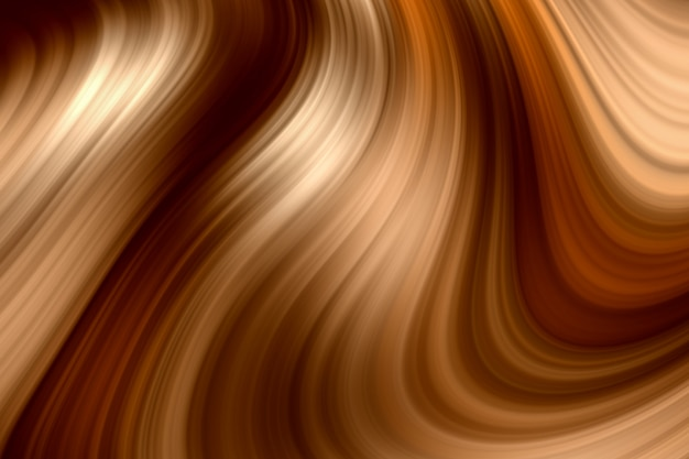 Abstract 3d rendering elegant brown color swirl effect texture background