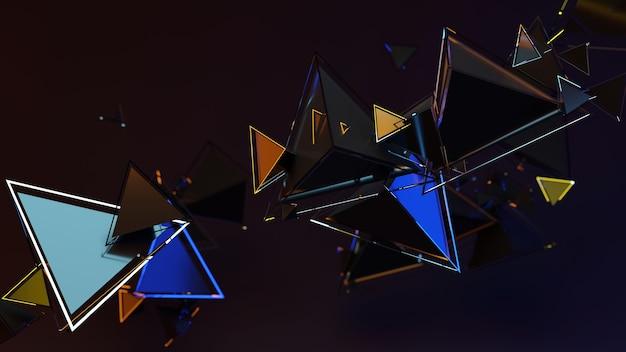幾何学的形状の抽象的な3dレンダリング。ポスター、表紙、ブランディング、バナー、プラカードのモダンな背景デザイン。