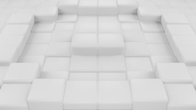 Абстрактный 3d-рендеринг геометрической квадратной формы композиции современного фона